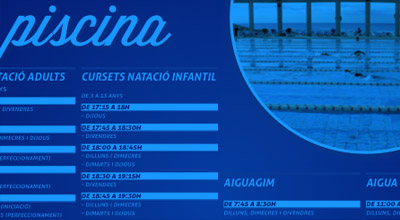 DISPONIBILITAT PISCINA